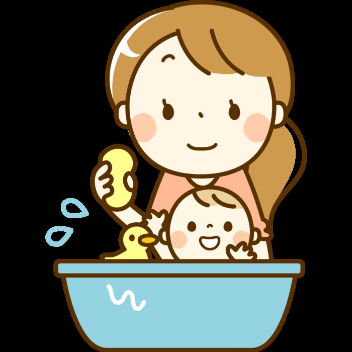 沐浴時の姿勢
